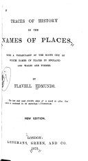 Traces of History in the Names of Places