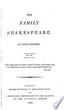 The family Shakespeare [expurgated by T. Bowdler].