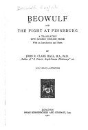 Beowulf. And The Fight at Finnsburg