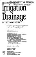 Planning Now For Irrigation And Drainage In The 21st Century Book PDF