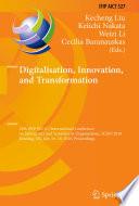 Digitalisation  Innovation  and Transformation Book