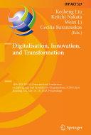 Digitalisation, Innovation, and Transformation Pdf/ePub eBook