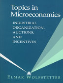 Topics in Microeconomics