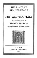 The Plays of Shakespeare  The winter s tale  The tempest