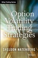 Option Volatility Trading Strategies Pdf/ePub eBook