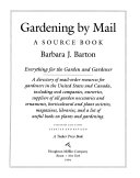 Gardening by Mail