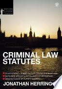 Criminal Law Statutes 2012 2013