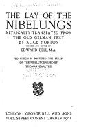 The Lay of the Nibelungs ebook
