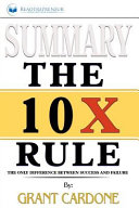 Summary Of The 10x Rule PDF
