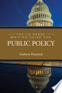 The CQ Press Writing Guide for Public Policy