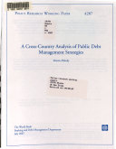 A Cross country Analysis of Public Debt Management Strategies