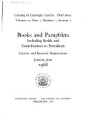 Books and Pamphlets  Including Serials and Contributions to Periodicals