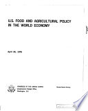U S Food And Agricultural Policy In The World Economy