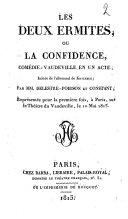 Les deux ermites, ou La confidence