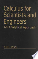 Calculus for Scientists and Engineers  : An Analytical Approach