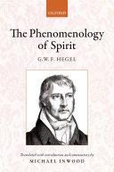 Hegel: the Phenomenology of Spirit