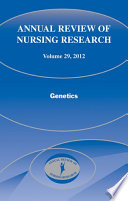 Annual Review of Nursing Research  Volume 29 Book