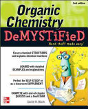 Cover of Organic Chemistry Demystified 2/E