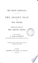 The Jesuit Conspiracy The Secret Plan Of The Order With A Preface By V Consid Rant Transl