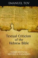Download Textual Criticism of the Hebrew Bible PDF