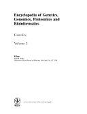 Encyclopedia of Genetics  Genomics  Proteomics  and Bioinformatics  Genetics