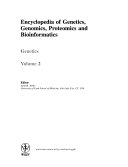 Encyclopedia of Genetics  Genomics  Proteomics  and Bioinformatics  Genetics