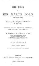 The Book of Sir Marco Polo the Venetian