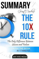 Summary of Grant Cardone's the 10x Rule