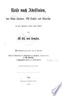 Reise nach Abessinien, den Gala-Ländern, Ost-Sudán und Chartúm in den Jahren 1861 und 1862