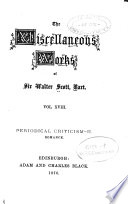 The Miscellaneous Works of Sir Walter Scott  Bart  Periodical criticism  2  Romance