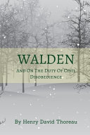 Walden And On The Duty Of Civil Disobedience Book
