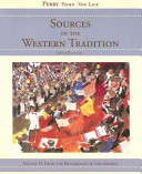 Perry Sources of Western Tradition Volume Two Sixthedition at New for Used Price Book