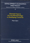 Potential Impacts of Crop Biotechnology in Developing Countries Book
