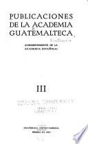 Publicaciones de la Academia Guatemalteca