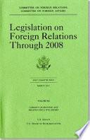 Legislation on Foreign Relations Book