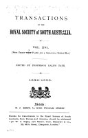 Transactions and Proceedings of the Royal Society of South Australia