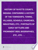 History of Fayette County, Indiana