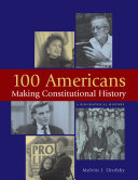 100 Americans Making Constitutional History Pdf/ePub eBook