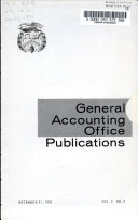 General Accounting Office Publications