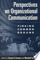 Perspectives on Organizational Communication Book PDF
