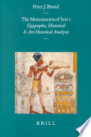 The Monuments of Seti I Book