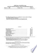 """""""Official Gazette of the United States Patent and Trademark Office: Trademarks"""" by United States. Patent and Trademark Office"""