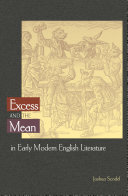 Excess and the Mean in Early Modern English Literature