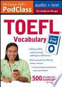 McGraw-Hill's PodClass TOEFL Vocabulary (MP3 Disk)