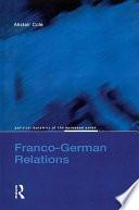 Franco German Relations