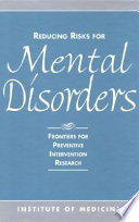 Reducing Risks for Mental Disorders Book