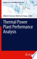 Thermal Power Plant Performance Analysis Book PDF