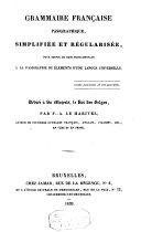 Grammaire française pasigraphique, simplifiée et régularisée