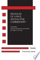 Nicholas Of Lyra S Apocalypse Commentary