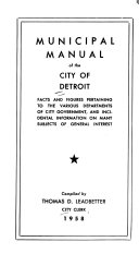 Municipal Manual Of The City Of Detroit Book PDF